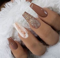 35 + 2019 Hot Fashion Sarg Nagel Trend Ideen 20 Trendy Coffin Nail Art Designs Get more photo , Long Nail Designs, Acrylic Nail Designs, Nail Art Designs, Nails Design, Different Nail Designs, Elegant Nail Designs, Marble Acrylic Nails, Fall Acrylic Nails, Fall Nail Art