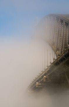 Sydney Harbour Bridge immersed in fog, Australia  Australian Open 2013 #tennis #ausopen  http://www.australianopen.com