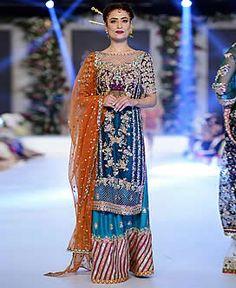 D5529 Fantastic Bridal Sharara Dress for Wedding Reception Bridal Sharara Dresses Edison New Jersey NJ USA Karma Sharara Dresses