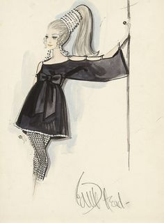 Edith Head costume sketch (production unknown)