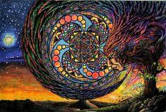 Dream Cycle by AmentiStudios on DeviantArt Psy Art, Witch Art, Psychedelic Art, Book Of Shadows, Trippy, Buddhism, Spirituality, Artsy, Deviantart