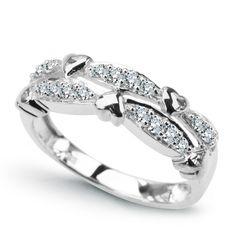 14CT WHITE GOLD DIAMOND HEART DRESS RING