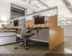 Birchwood Lighting specialists in linear fluorescent and LED fixtures Newport Beach, Led Fixtures, Light Installation, Corner Desk, Toronto Canada, Table, Offices, Plane