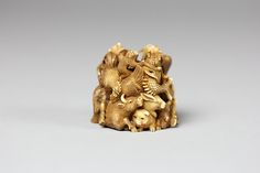 Netsuke of Group of Animals Date: 18th century Culture: Japan Medium: Ivory