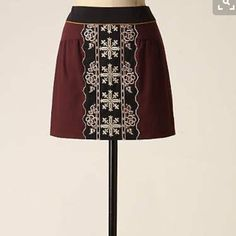 Eugenia mini skirt In perfect condition. Worn twice. Anthropologie Skirts Mini