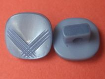 10 kleine KNÖPFE hellblau 11 x 11mm (5063-5) Knopf