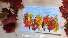 """602 Likes, 6 Comments - @interesno_detyam on Instagram: """" простой нетрадиционный способ рисования.  Сегодня это рисование осеннего леса листиками-…"""""""
