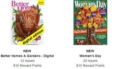 NEW quick GPS survey to earn a FREE $20 Magazine credit....get BOTH of these subscriptions OR others 100% FREE, no CC required. NEVER receive a bill. (one is a digital subscription, the other you receive the physical copies) http://www.freebiequeen13.net/free-samples.html