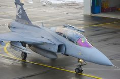 Swedish Saab Gripen fighter.