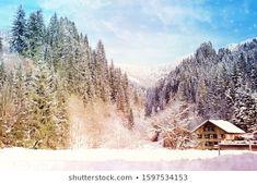 Anna Misslinger: портфолио стоковых фотографий и изображений | Shutterstock Wooden Hut, Winter Landscape, Anna, House Styles, Photography, Outdoor, Image, Beautiful, Design