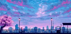 This website shares a collection of anime images and photos to make your phone, PC or laptop wallpaper Anime Computer Wallpaper, Cute Laptop Wallpaper, Aesthetic Desktop Wallpaper, Wallpaper Pc, Bicycle Wallpaper, Aesthetic Backgrounds, Anime Backgrounds Wallpapers, Anime Scenery Wallpaper, Landscape Wallpaper