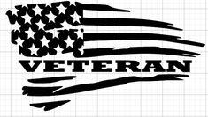 Veteran Distressed American Flag Old Glory Car Truck Vinyl Decal Window Hood Fender Sticker Pick Siz Cricut Vinyl, Vinyl Decals, Wall Stickers, Wall Decals, Window Decals, Silhouette Cameo Projects, Silhouette Design, Vinyl Crafts, Vinyl Projects