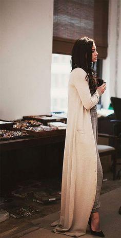 Glamorous long cardigan for vintage lady