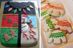 Sweater Party Cake and Cookies