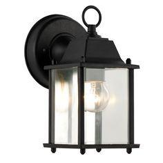 Bel Air Lighting CB-40455-BK 1 Light Porch Light With Clear Beveled