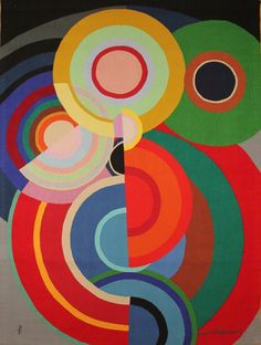 """Sonia Delaunay (French, 1885-1979), """"Petite automne"""", 1938/1971. Aubusson tapestry, 170.2 x 125.7 cm."""