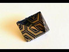 Origami Triangle Box Instructions: www.Origami-Fun.com - YouTube