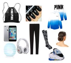 """""""School"""" by lyricsims ❤ liked on Polyvore featuring Victoria's Secret, Angie, Beats by Dr. Dre, Topshop and NIKE"""