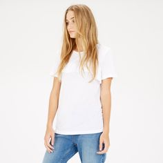 Warehouse, SINGLE RUFFLE TEE White 2