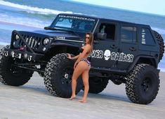 just some jeep stuff. remember keep the Jeep wave alive ! Trucks And Girls, Car Girls, Big Trucks, Jeep Wrangler Girl, Jeep Wrangler Unlimited, Jeep Suv, Jeep Truck, Custom Jeep, Custom Trucks