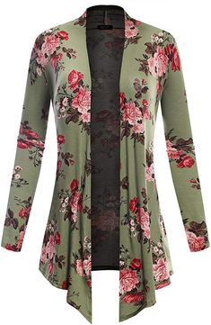 Y BILY Women's Open Front Drape Hem Lightweight Cardigan Floral Print from the most popular stores - all in one place. Cute Fashion, Unique Fashion, Fashion Outfits, Muslim Women Fashion, Womens Fashion, Kalamkari Dresses, Casual Dresses For Women, Clothes For Women, Long Tunic Tops