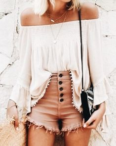 Nice 45 Adorable And Cute Teenage Outfits Ideas For Summer. - My Style - Modetrends Mode Outfits, Casual Outfits, Fashion Outfits, Womens Fashion, Fashion Trends, Fashion Clothes, Beach Outfits, 30 Outfits, Fashion Ideas
