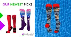 Bring out the fun and colorful sides of your young athlete's personality with high-performance athletic products. #socks #teamsocks #awarenessmerchandise #spandex #leotards #playerIDsocks