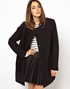 Image 1 ofMonki Oversized Boyfriend Coat