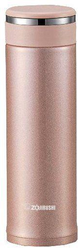 Zojirushi SM-JTE46PX 16-oz Stainless Steel Mug w/Tea Leaf Filter, Pink Champagne