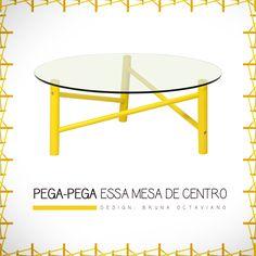 Mesa de centro Pega-Pega | Design: Bruna Octaviano