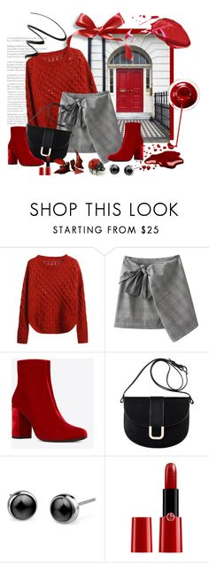 """""""elegancja"""" by margo47 ❤ liked on Polyvore featuring Yves Saint Laurent, A.P.C., Giorgio Armani and NYX"""
