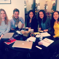The Virgin Unite Team brainstorming with the lovely Natalie Imbruglia this morning :)