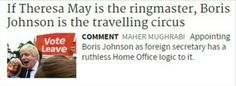 BoJo is the travelling circus