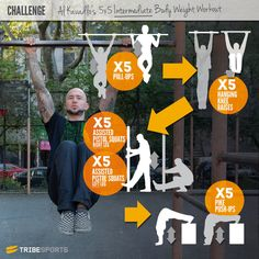 Al Kavadlo S 5x5 Bodyweight Intermediate Calisthen | Challenges | Tribesports
