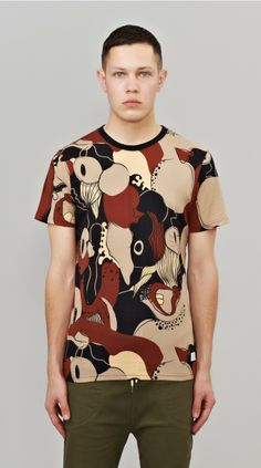 This garment features the custom Big Mouth artwork. The print is I Love Ugly's interpretation of a Camo Print, made up of illustrated cartoon Mouths, Faces and Lips. #fashion