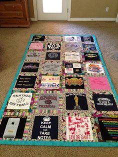 Tee shirt quilt! DIY dorm ideas