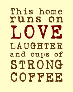 """""""Love and Strong Coffee Poster"""" Digital Art art prints and posters by friedmangallery - ARTFLAKES.COM"""