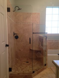 "Fully Enclosed Shower four sided ""true frameless"" heavy glass shower enclosure   shower"