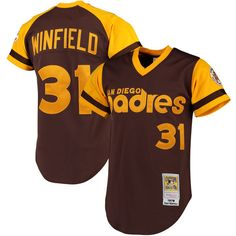 Dave Winfield 1978 San Diego Padres Mitchell & Ness Cooperstown Collection Authentic Throwback Jersey - Brown - $249.99
