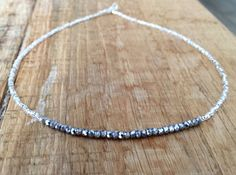 Crystal and Silver Seed Bead Choker by 49TRENT on Etsy