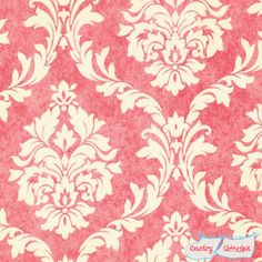 Pirouette Pink French Damask Fabric by Verna Mosquera for Freespirit