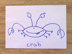 How To Draw A Crab In 60 Seconds? Crab In 60 Seconds with Funny Socks!