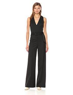 Women One Shoulder Ruffle Sleeveless Jumpsuit Romper Long Pants Playsuit YO