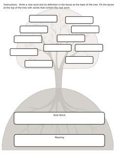 Free Root Word Organizer