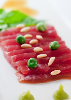 Tuna Carpaccio is a very delicious dish, but it is raw fish. Food safety training for flight attendants working on private jets. Details at www.trainingsolutions.ch
