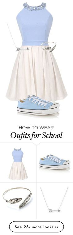 School by addiegirl15 on Polyvore featuring Converse and Adina Reyter