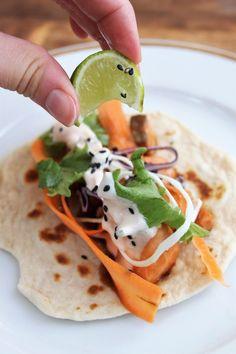 Fishtaco teriyaki 3 Tacos, Mexican, Ethnic Recipes, Food, Essen, Meals, Yemek, Mexicans, Eten