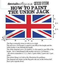 how to paint a union jack portrait