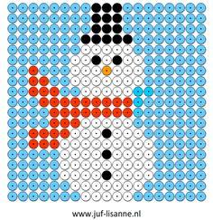 www.juf-lisanne.nl Kralenplank sneeuwman