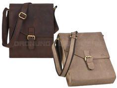 DETHLOFF - Leder Umhängetasche Herrentasche Schultertasche Postbag Hochformat - 2 Farben